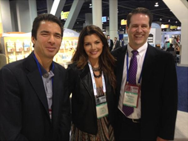 Ali Landry toured our booth at the ABC Kids Expo in October, 2013.