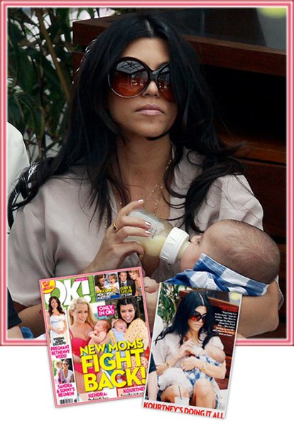 Kourtney Kardashian seen here feeding her son, Mason, with a Born Free bottle.