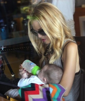 Rachel Zoe was seen feeding her son, Skyler, with our Born Free Bottles.